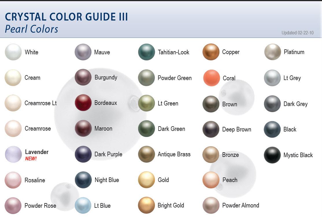 Swarovski crystal pearl color chart nvjuhfo Images
